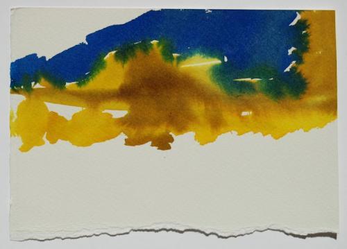 Paisagem (estudo) #1, Aguarela s/papel, 13 x 20 cm