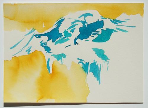 Paisagem (estudo) #2, Aguarela s/papel, 17 x 25 cm