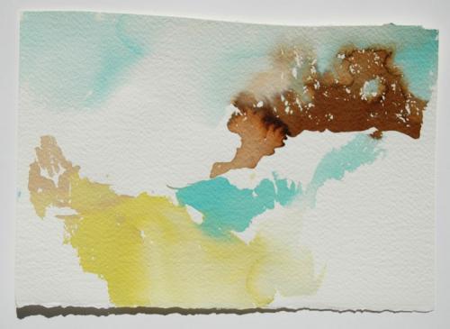 Paisagem (estudo) #3, Aguarela s/papel, 17 x 25 cm
