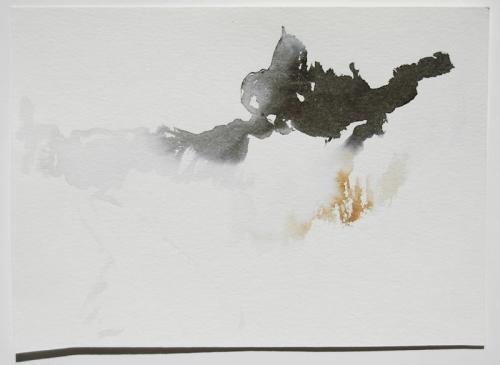 Paisagem (estudo) #4, Aguarela s/papel, 19 x 26 cm