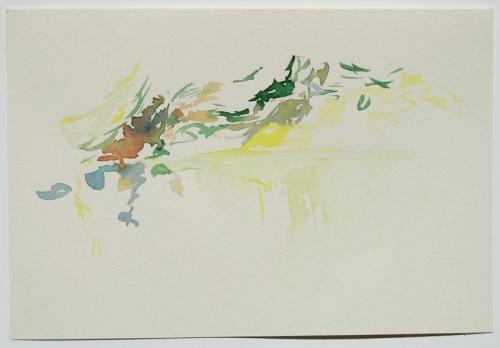 Paisagem (estudo) #5, Aguarela s/papel, 17x 25 cm