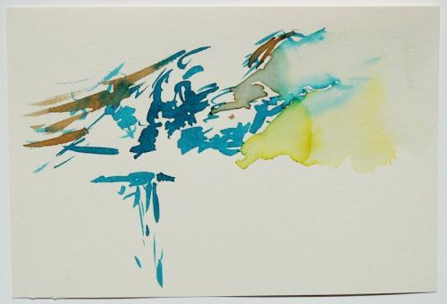 Paisagem (estudo) #6, Aguarela s/papel, 17 x 25 cm