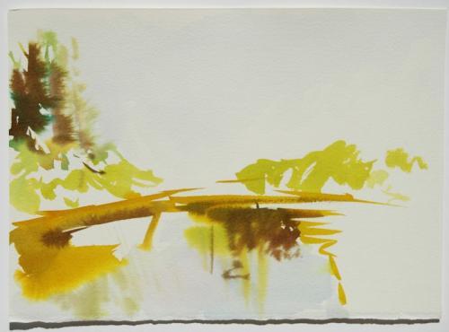 Paisagem (estudo) #7, Aguarela s/papel, 19 x 26 cm