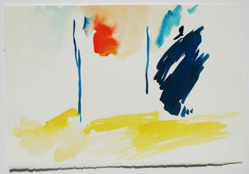 Paisagem (estudo) #8, Aguarela s/papel, 19 x 30 cm
