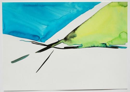 Paisagem (estudo) #9, Aguarela s/papel, 21 x 30 cm