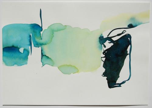 Paisagem (estudo) #10, Aguarela s/papel, 21 x 30 cm