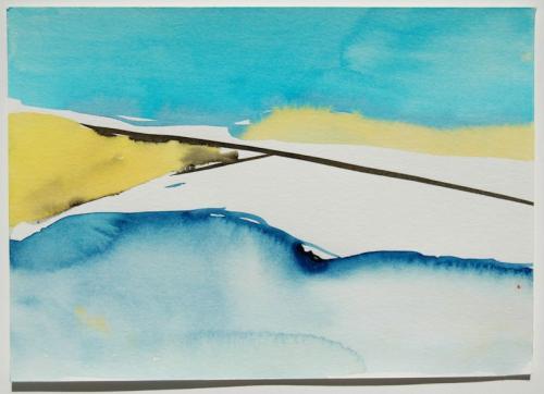 Paisagem (estudo) #11, Aguarela s/papel, 21 x 30 cm