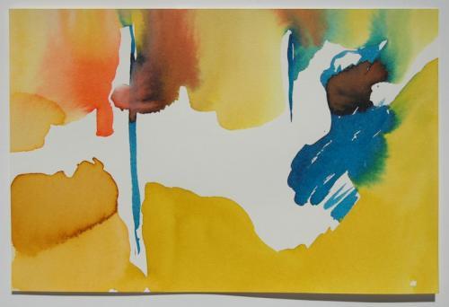 Paisagem (estudo) #12, Aguarela s/papel, 19 x 30 cm