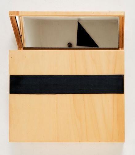 Câmara do Segredo (díptico), 2008, madeira de choupo, espelho, acrílico e óleo s/papel, 36 x 31 x 10 cm