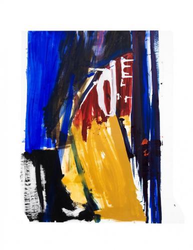 Paisagem III, 2009, Óleo s/papel 151 x 121 cm