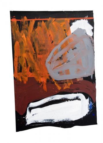 Antecâmara do Segredo IV, 2009, Óleo s/papel, 160 x 111 cm