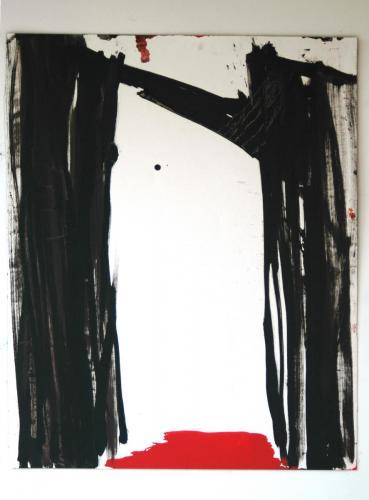Segredo I, Óleo s/papel, 112 x 91 cm