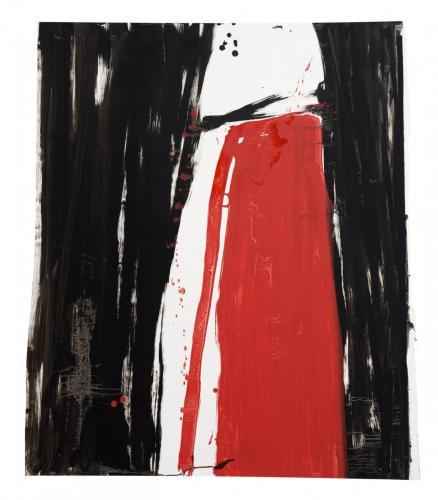 Segredo II, 2009, Óleo s/papel, 112 x 96 cm