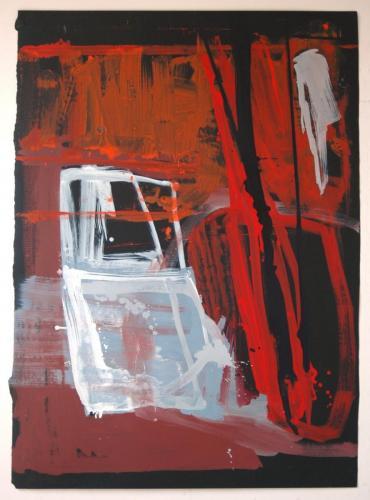 Hipótese de Tlon, 2010, Óleo s/papel, 153 x 112 cm