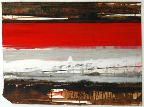 Espelho de Tinta I, 2012, Óleo s/papel 83 x 112 cm
