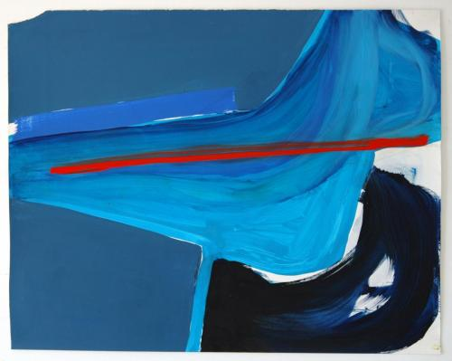 Corte, 2012, Óleo s/papel, 73 x 92 cm