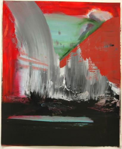 Paisagem Semi-nocturna, 2012, Óleo s/papel, 69 x 57 cm