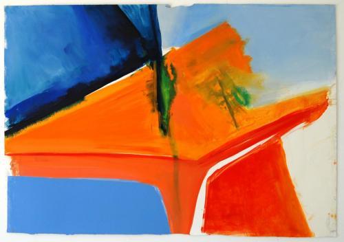 Íntimo, 2012, Óleo s/papel, 97 x 140 cm