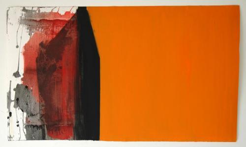 Exterior III, 2012, Óleo s/papel, 58 x 102 cm