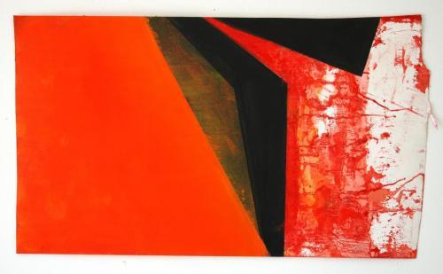 Exterior IV, 2012, Óleo s/papel, 43 x 73 cm