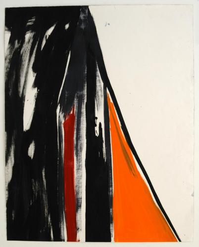 Passagem IV, 2012, Óleo s/papel, 92 x 73 cm