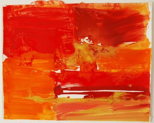 After-glow, 2012, Óleo s/papel, 70 x 90 cm