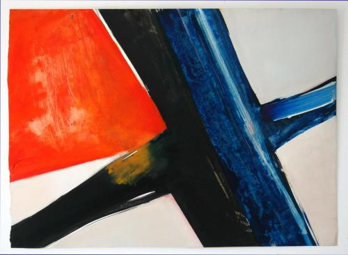 Cross-road, 2012, Óleo s/papel, 70 x 94 cm