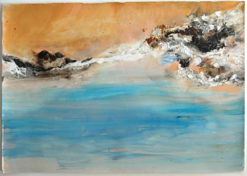 da vida das dunas #4, 2016, Óleo e pastel de óleo s/papel, 69 x 106 cm
