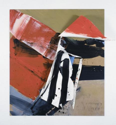 Colagem 2, Papel, madeira e tinta de óleo, 22x 0 x 5 cm