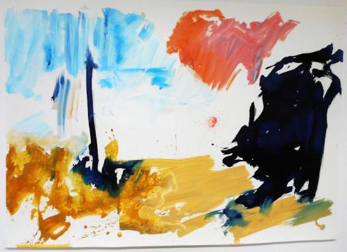 reflexo (turvo) da luz #11Óleo s/papel, 110 x 140 cm