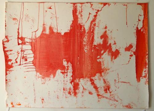 película de fósforo #10, Óleo s/papel, 74 x 103 cm