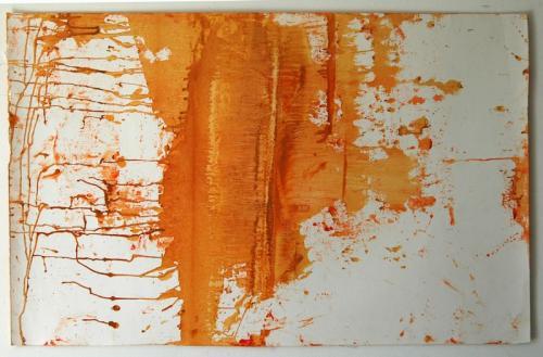 película de fósforo #11, Óleo s/papel, 74 x 103 cm