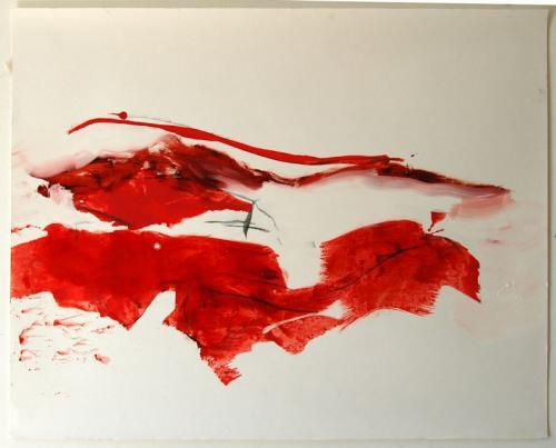 da vida das dunas # 6, Óleo s/papel, 65 x 06 cm