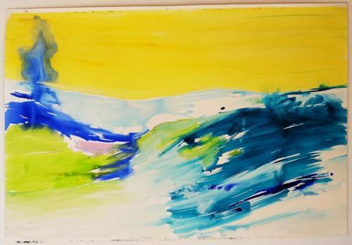 reflexo (turvo) da luz #16, Óleo s/papel, 105 x 140 cm