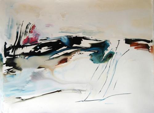 da vida das dunas # 7, Óleo s/papel, 97 X 130 cm