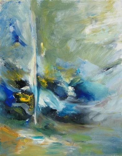 reflexo (turvo) da luz #26, Óleo s/tela, 53 x 41 cm