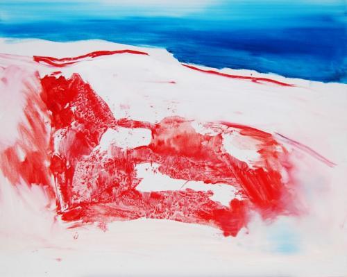 da vida das dunas # 8, Óleo s/tela, 81 x 100 cm