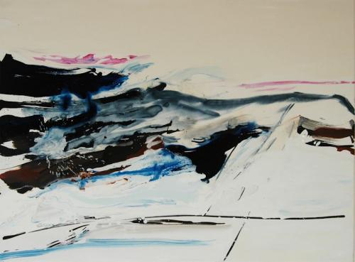 da vida das dunas # 9, Óleo s/tela, 97 x 130 cm