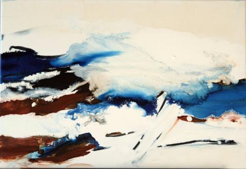 da vida das dunas # 10, Óleo s/tela, 50 x 70 cm
