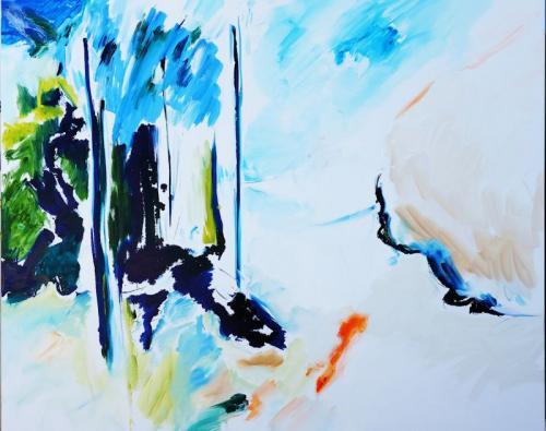 reflexo (turvo) da luz #27, Óleo s/tela, 130 x 162 cm